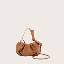 Knot Decor Ruched Bag
