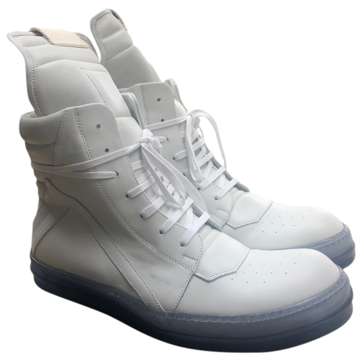 Rick Owens \N White Leather Trainers for Men 41 EU