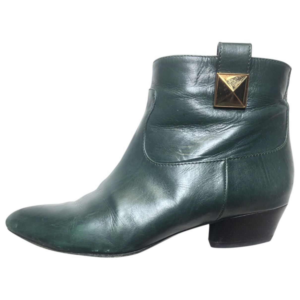 Marc Jacobs \N Green Leather Ankle boots for Women 35.5 EU