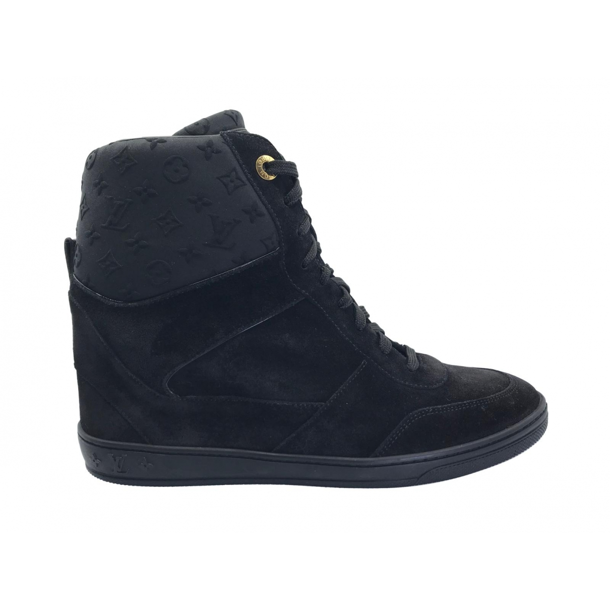 Louis Vuitton \N Sneakers in  Schwarz Veloursleder