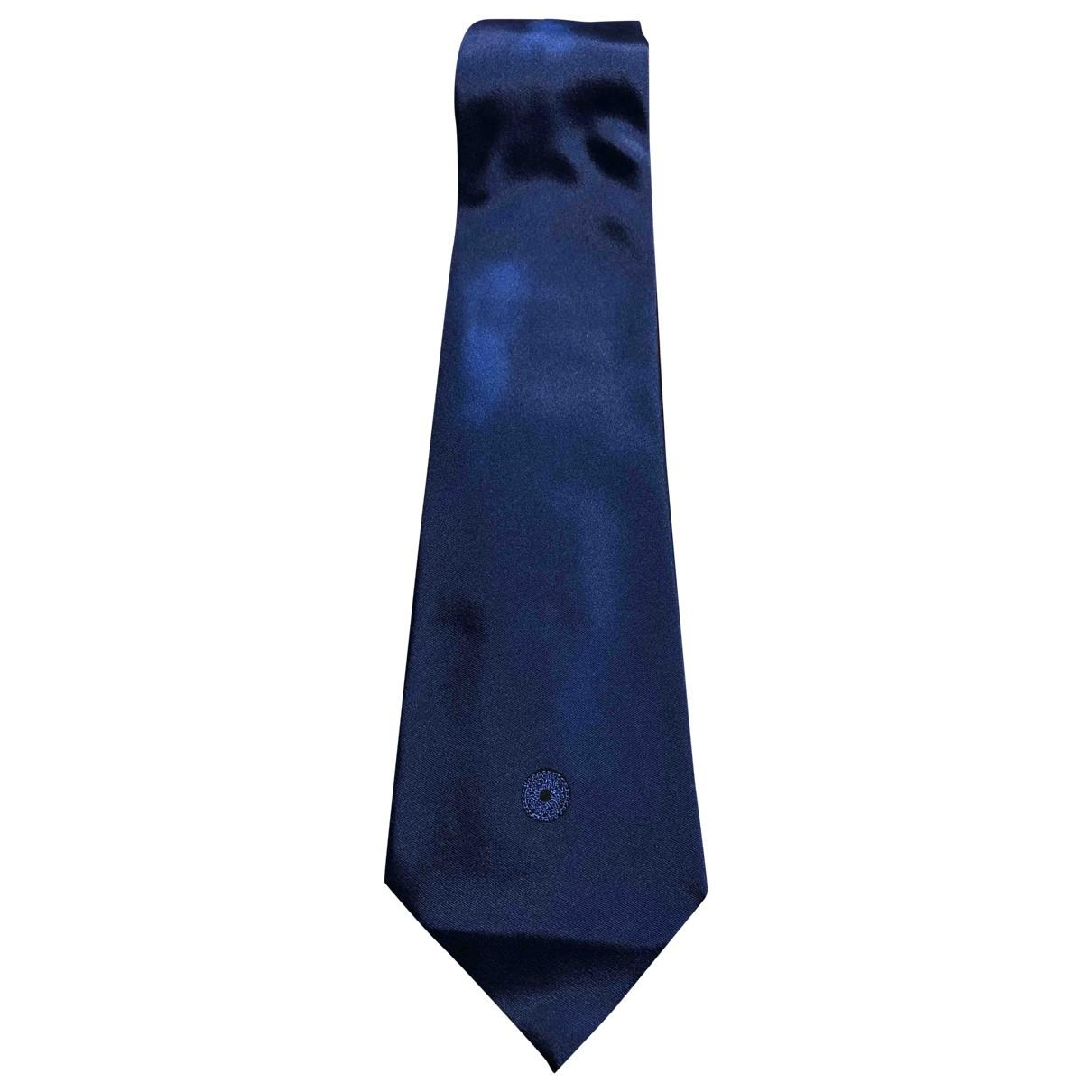 Versace \N Krawatten in  Marine Seide
