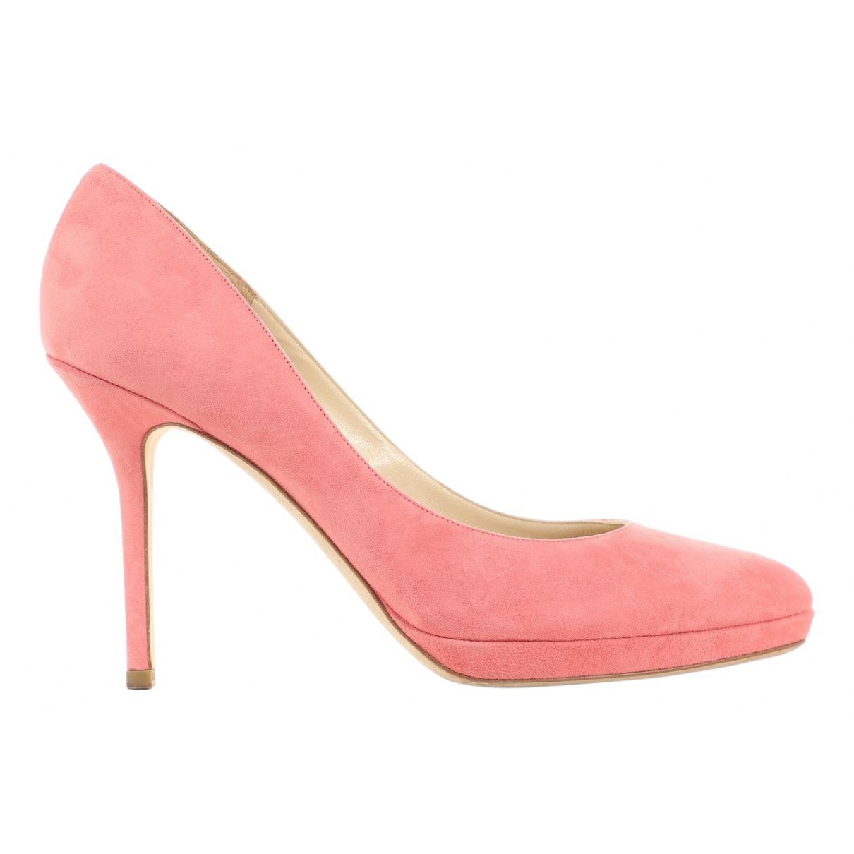 Jimmy Choo Esme Pink Suede Heels for Women 39 EU