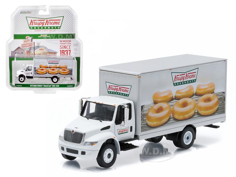 2013 International Durastar Box Van Krispy Kreme Donuts Delivery Truck HD Trucks Series 4 1/64 Diecast Model  by Greenlight