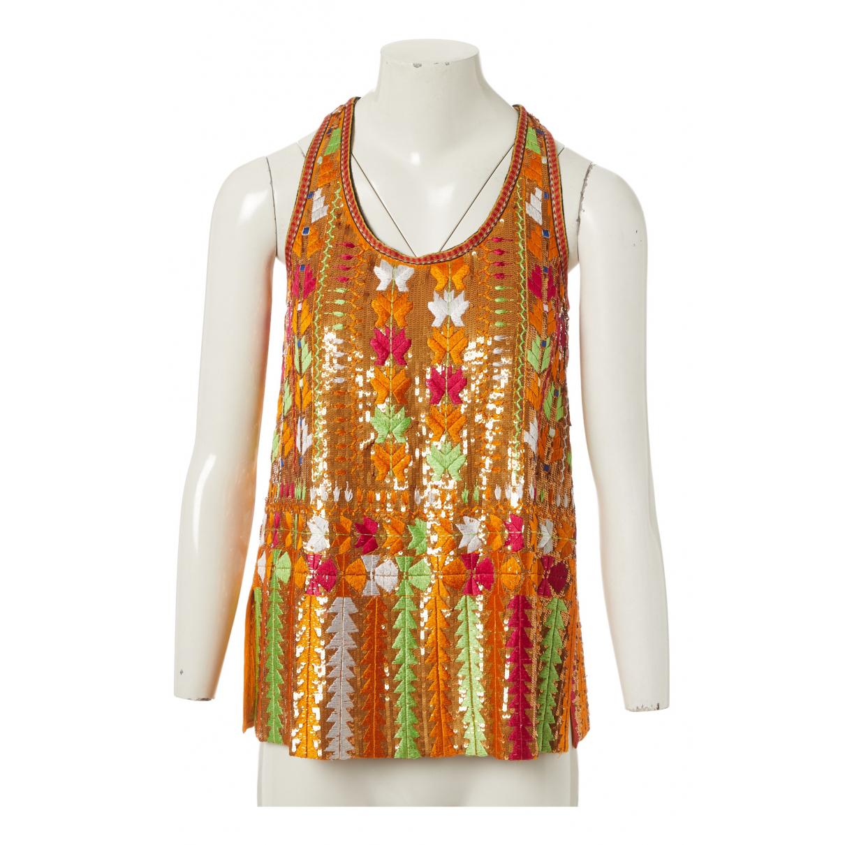 Etro - Top   pour femme en soie - multicolore