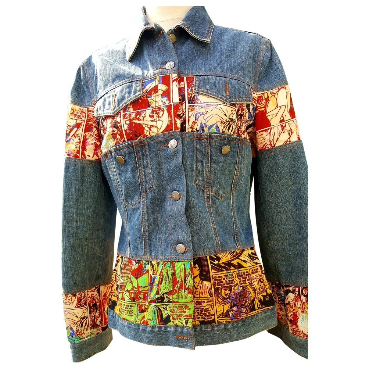 Jean Paul Gaultier \N Blue Denim - Jeans jacket for Women 38 FR