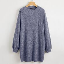Drop Shoulder Rib-knit Tee Dress
