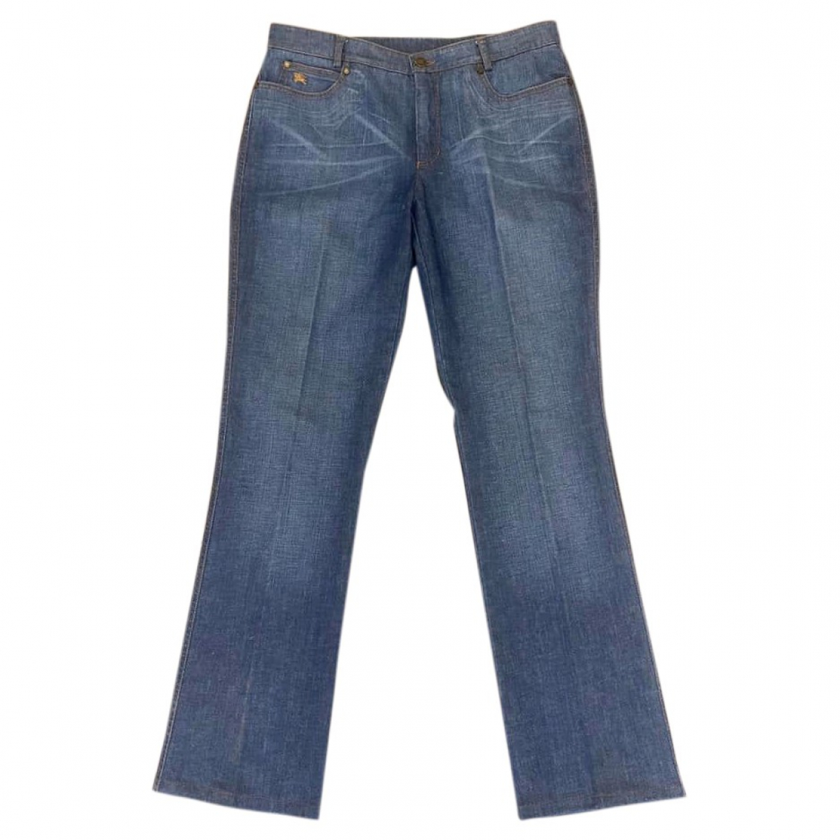 Burberry \N Blue Cotton - elasthane Jeans for Women 44 FR