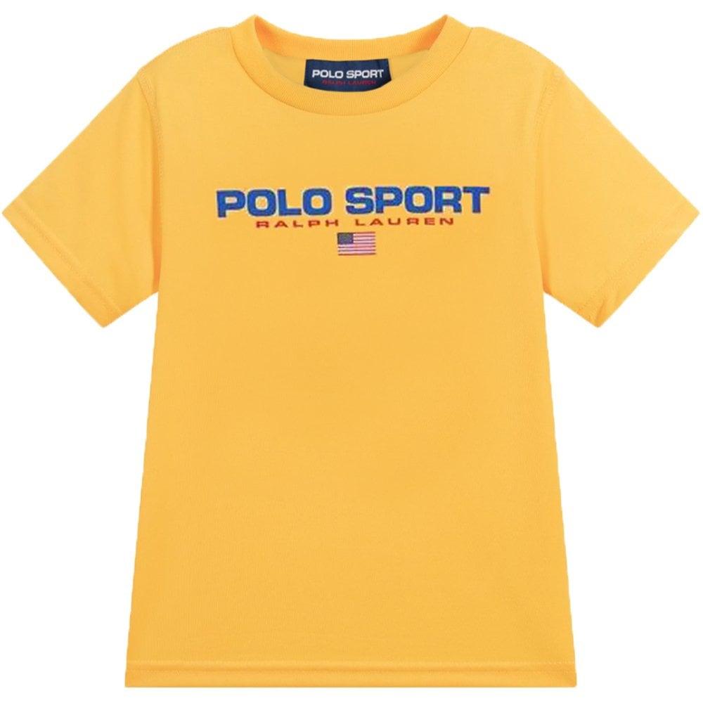 Ralph Lauren Polo Sport T-Shirt Yellow Size: L (14-16 YEARS), Colour: