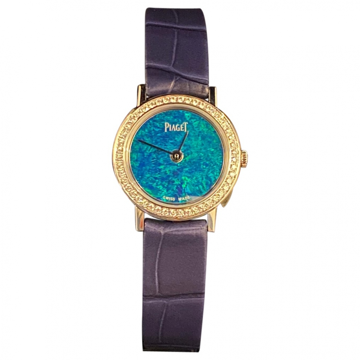 Piaget - Montre Altiplano pour femme en or blanc - bleu