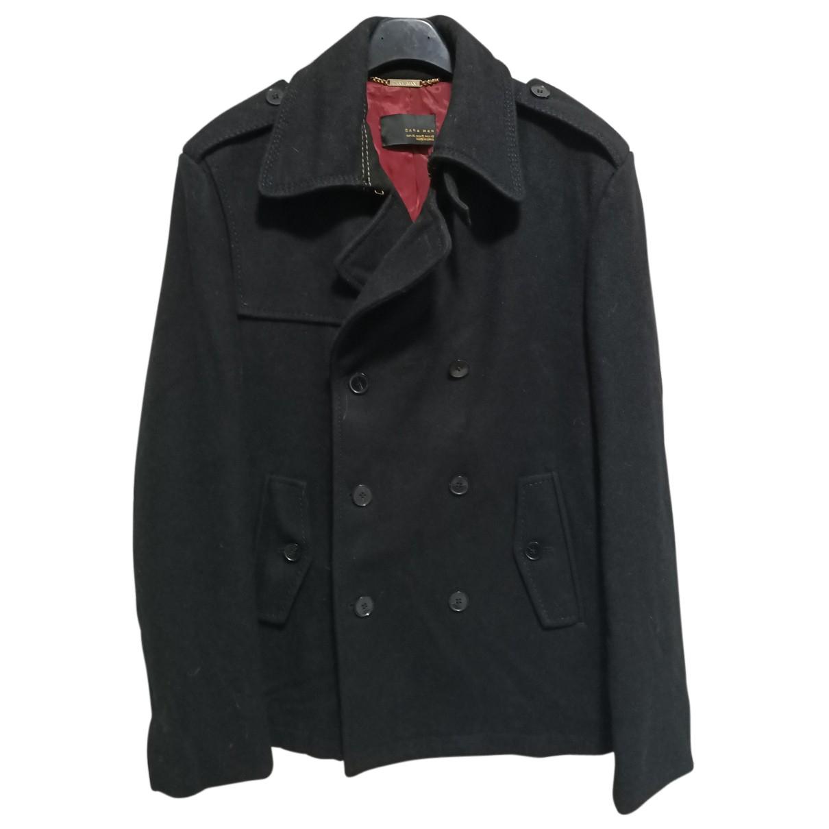 Zara - Manteau   pour homme en laine - noir