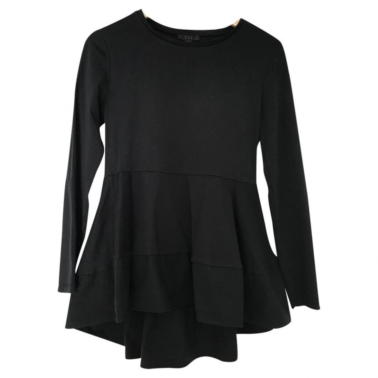 Cos - Top   pour femme en coton - noir