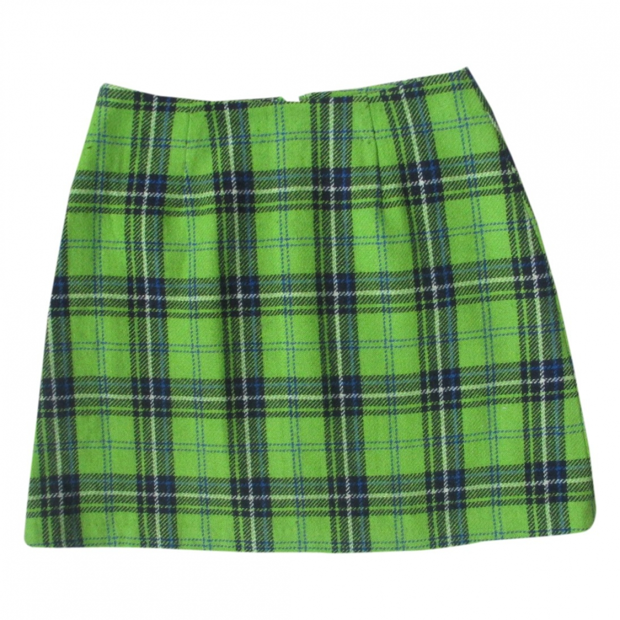 Non Signé / Unsigned \N Green Wool skirt for Women 38 FR