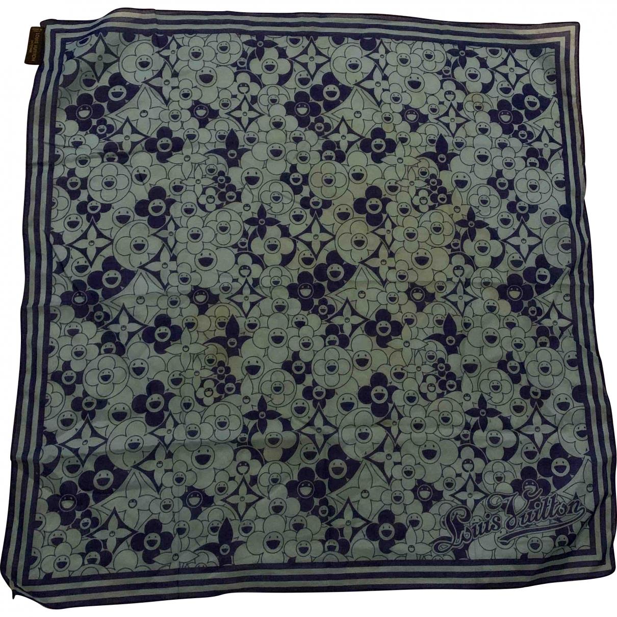 Louis Vuitton \N Blue Cotton scarf for Women \N