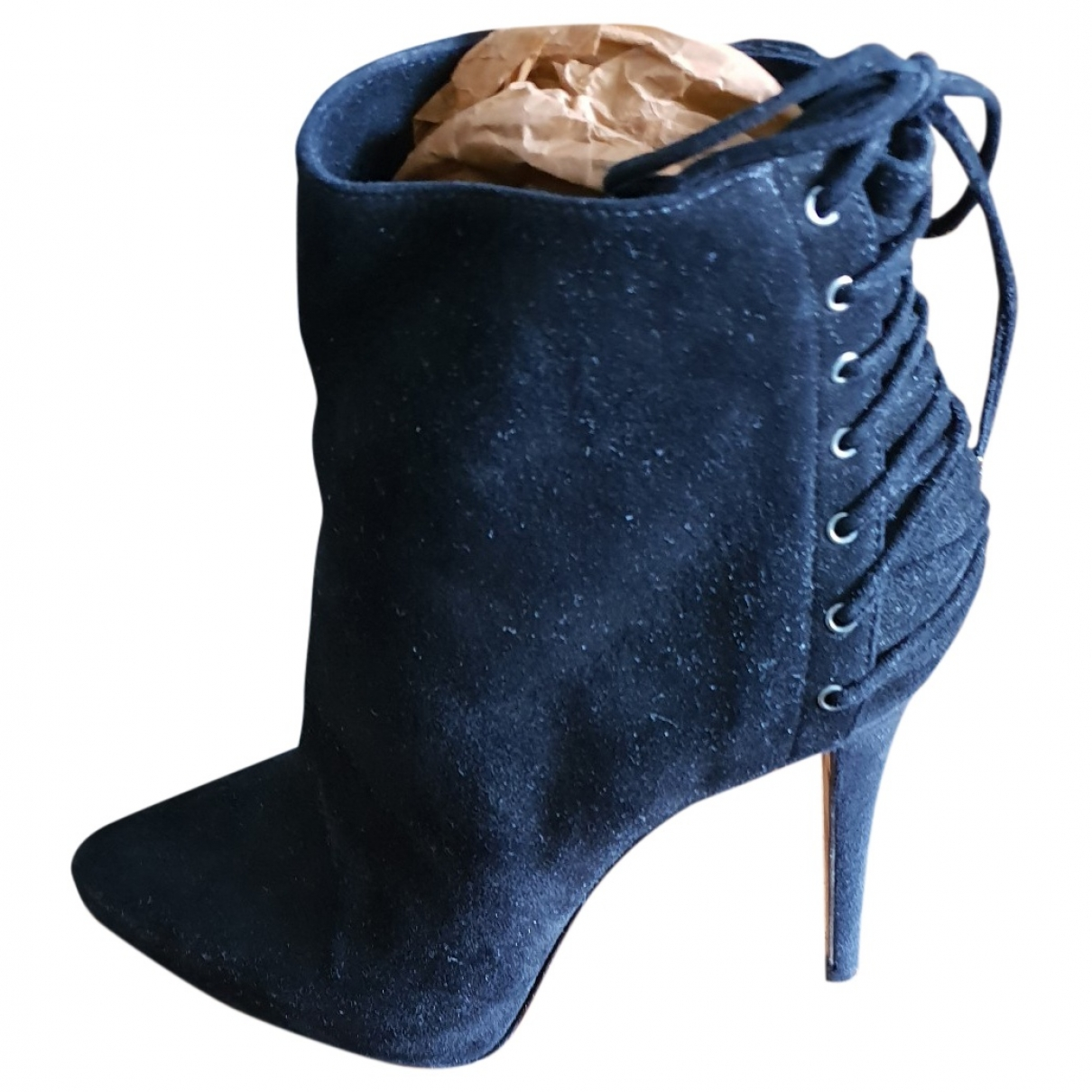 Le Silla \N Stiefel in  Schwarz Veloursleder