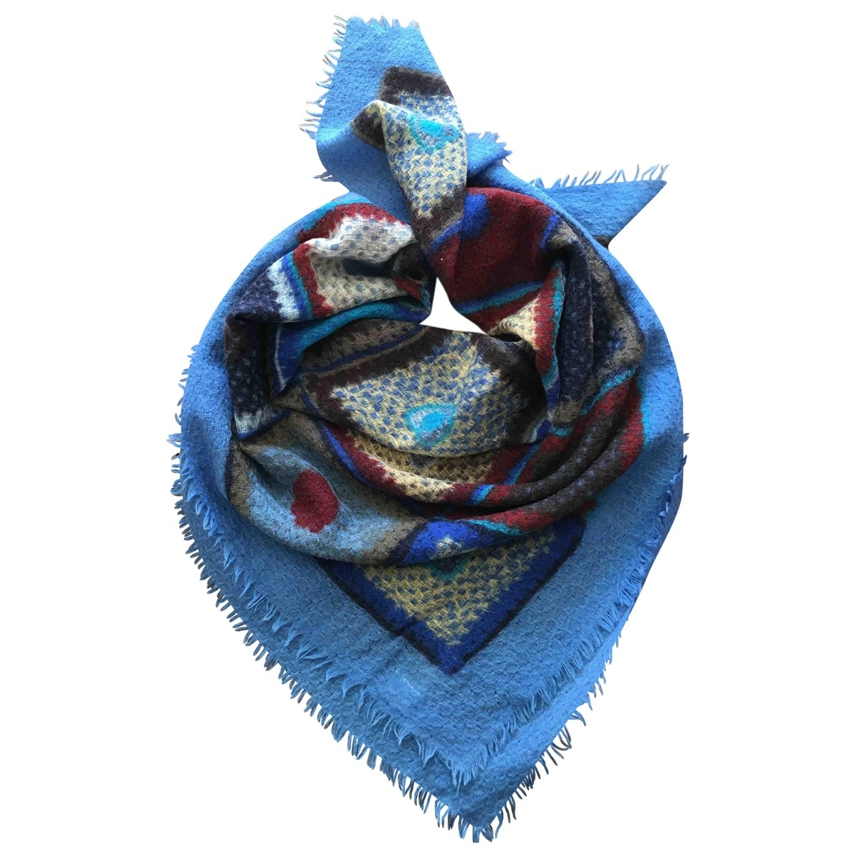 Non Signé / Unsigned \N Blue Wool scarf for Women \N