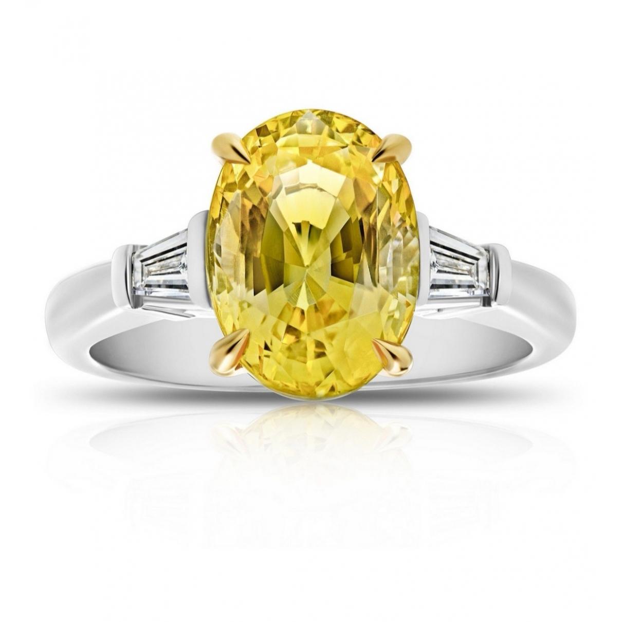 - Bague Solitaire pour femme en or blanc - jaune