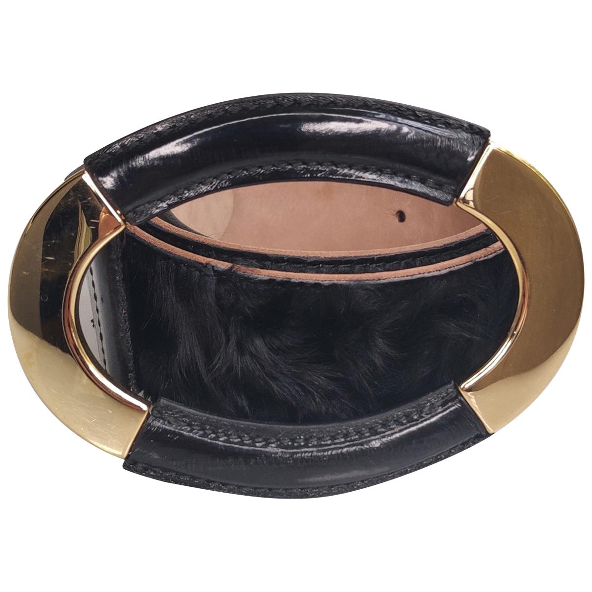 Dolce & Gabbana \N Guertel in  Schwarz Exotenleder