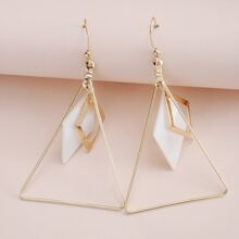 Hollow Out Triangle Drop Earrings