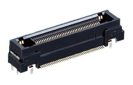 Hirose , FX23 0.5mm Pitch 40 Way 2 Row Right Angle PCB Socket, PCB Mount, Solder Termination (5)