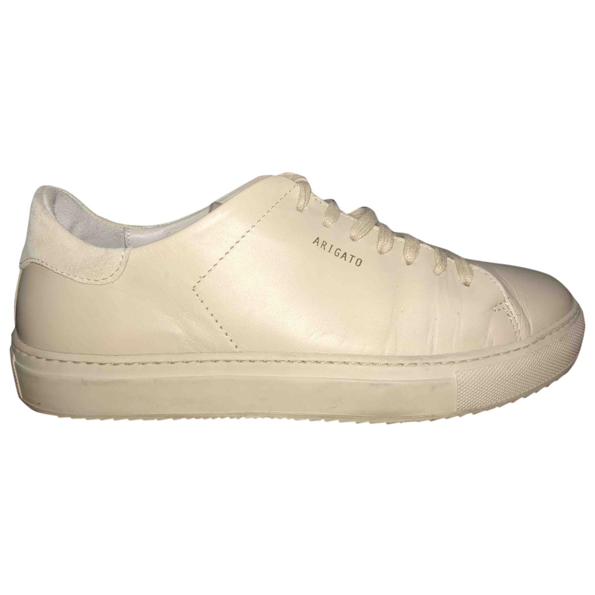 Axel Arigato \N Sneakers in  Beige Leder