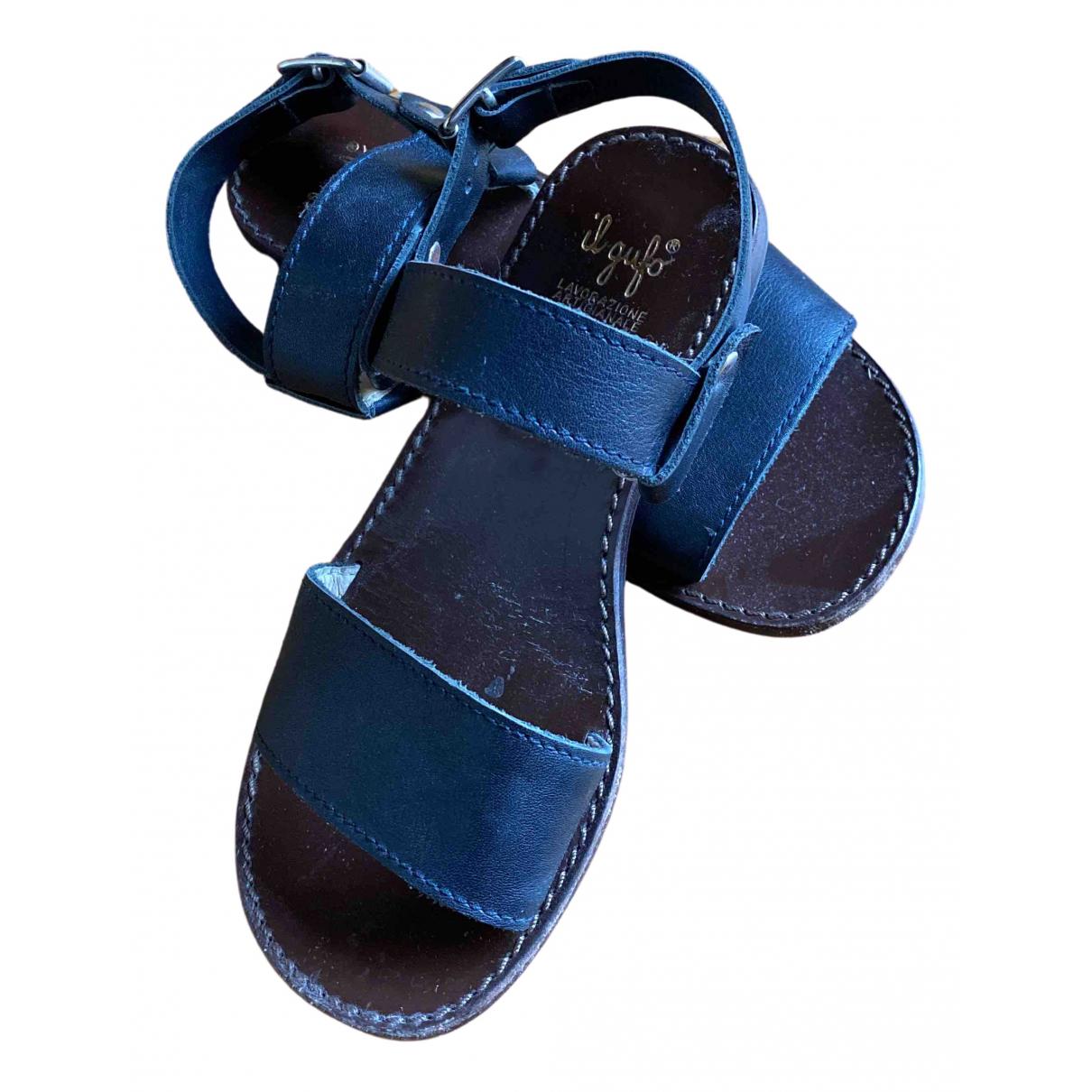Il Gufo - Sandales   pour enfant en cuir - bleu