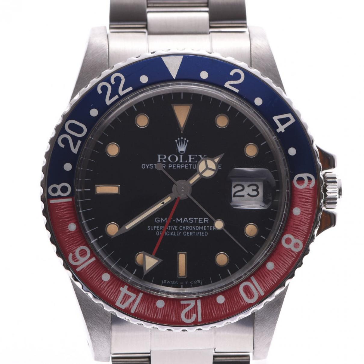 Rolex GMT Master Silver Steel watch for Men \N