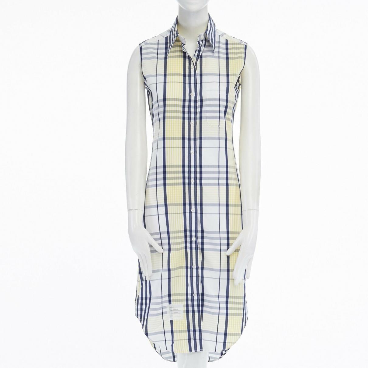Thom Browne \N Kleid in  Gelb Baumwolle