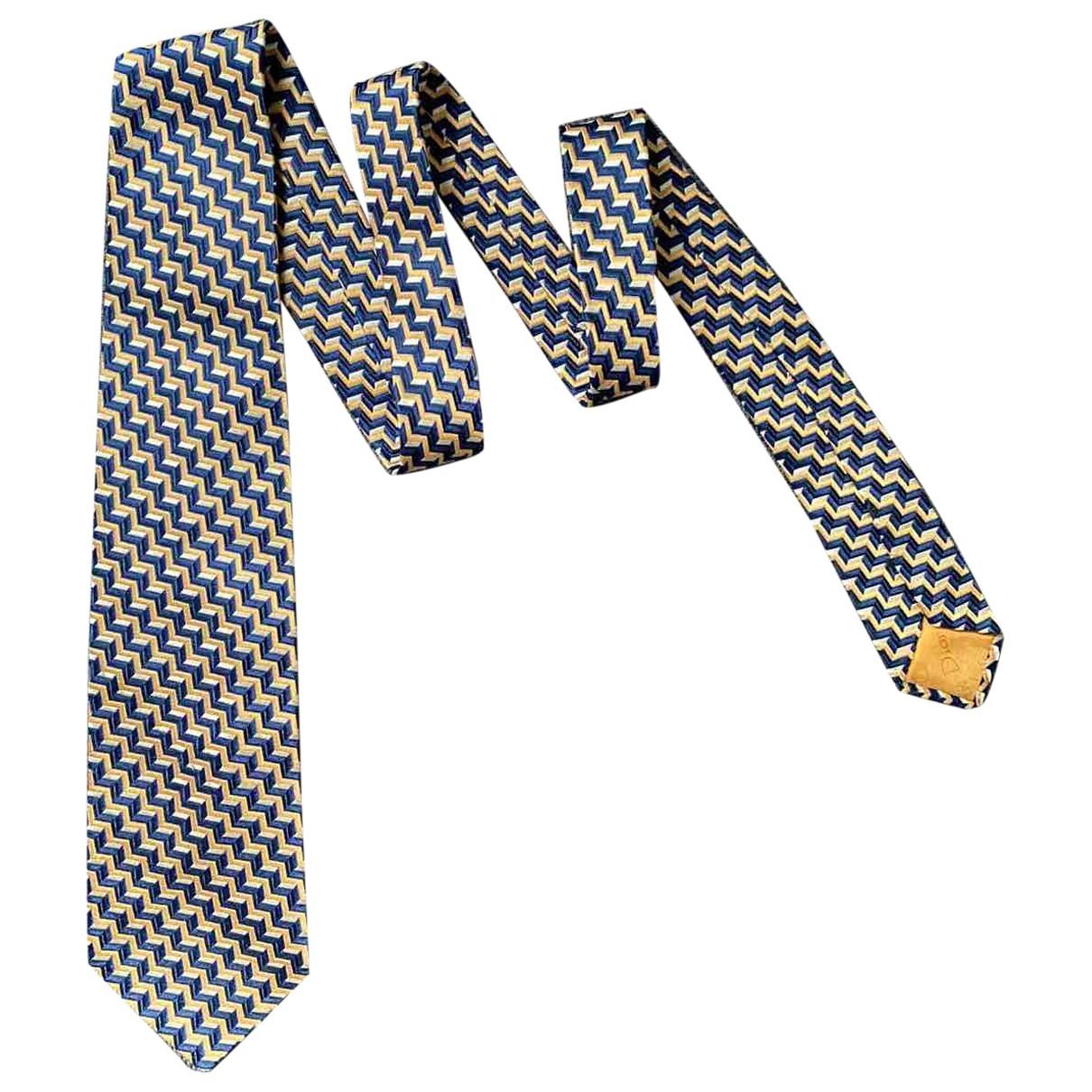 Christian Dior \N Krawatten in  Blau Baumwolle