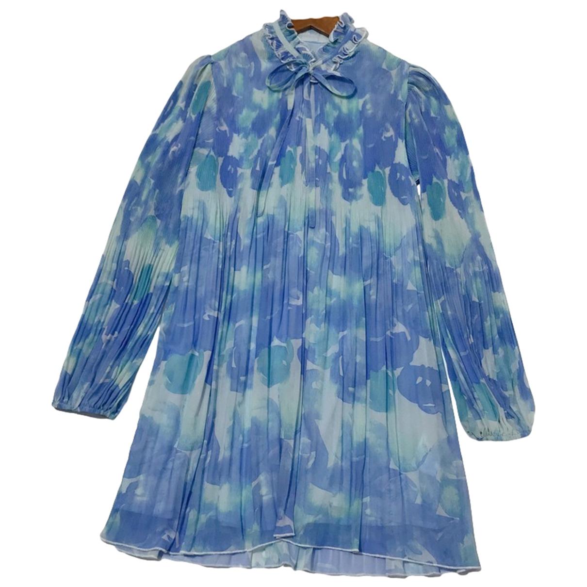 Ganni Spring Summer 2020 Kleid in  Blau Synthetik