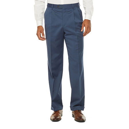 Stafford Super Mens Stretch Suit Pants, 48 29, Blue