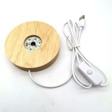 Holz Base LED Nachtlampe