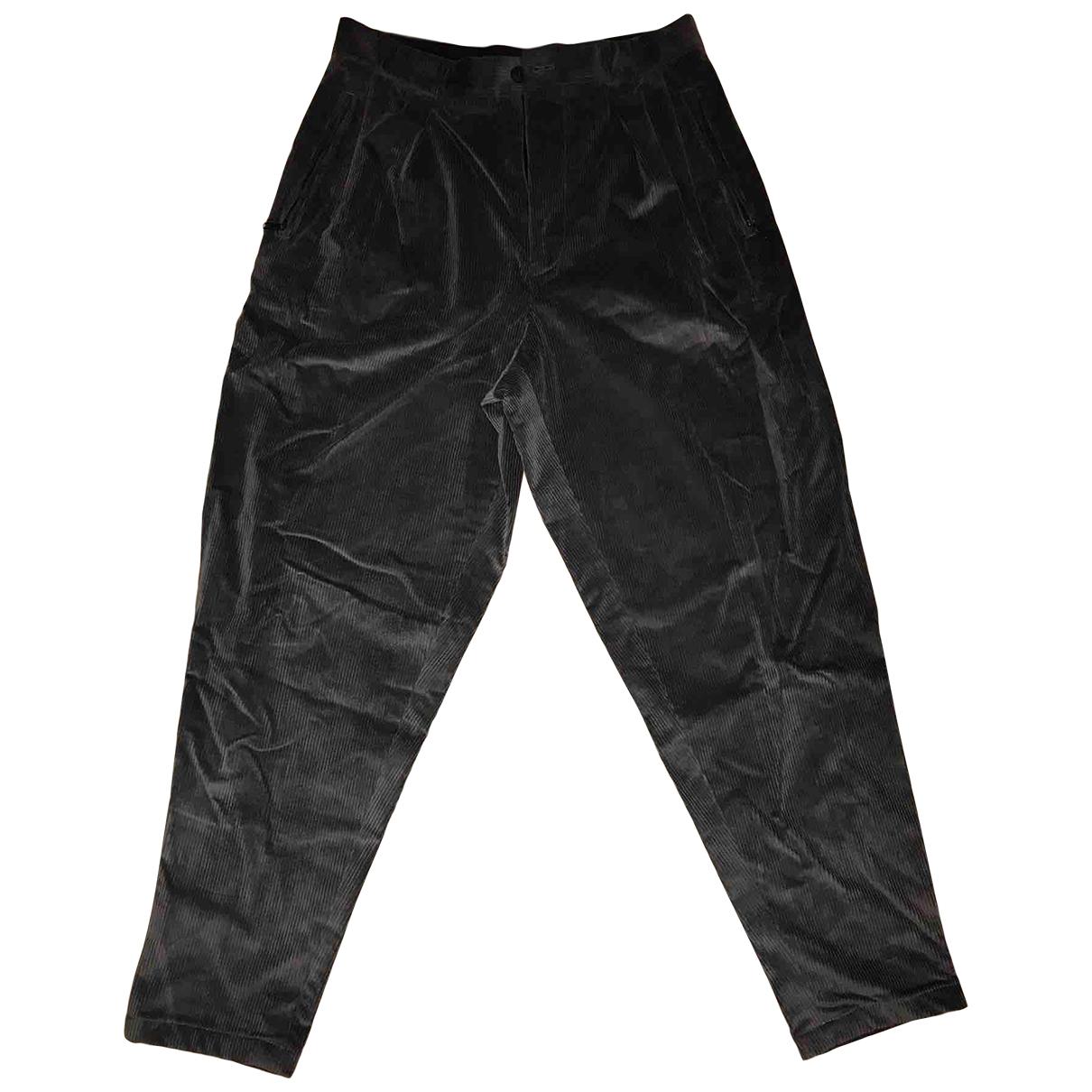 Giorgio Armani - Pantalon   pour homme en velours - anthracite