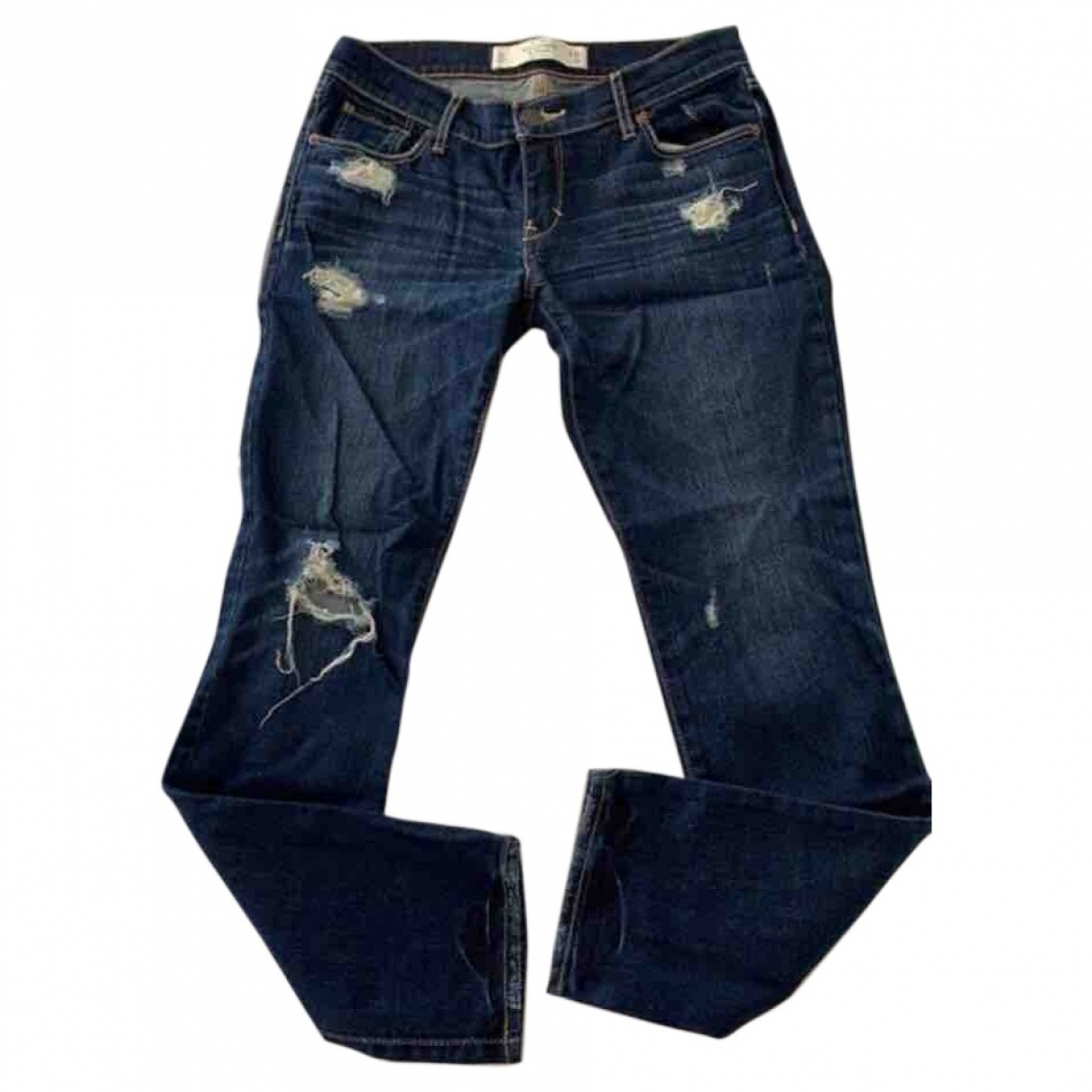 Abercrombie & Fitch \N Blue Cotton - elasthane Jeans for Women 26 US