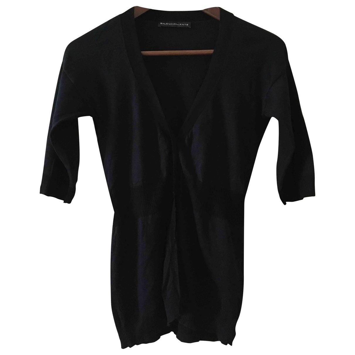 Balenciaga \N Pullover in  Blau Baumwolle