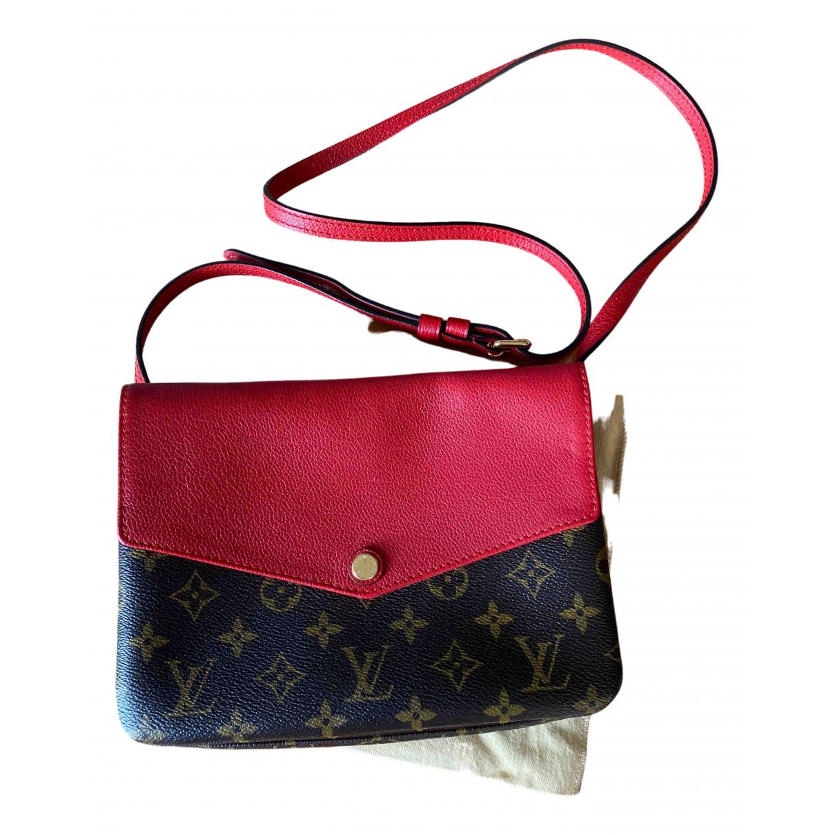 Louis Vuitton \N Handtasche in  Rot Leinen