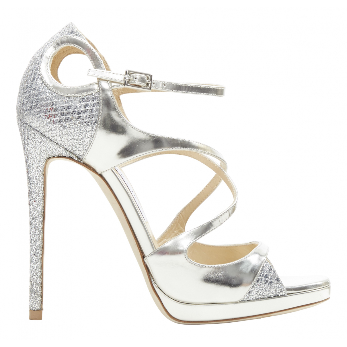 Jimmy Choo \N Silver Leather Sandals for Women 38 EU