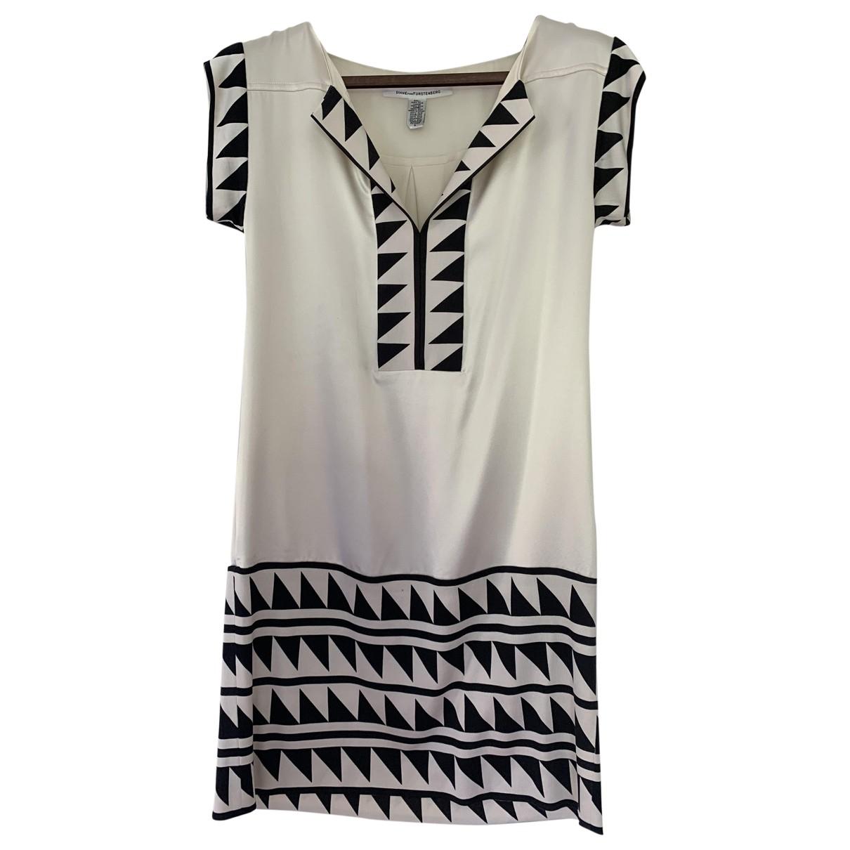 Diane Von Furstenberg \N Kleid in  Ecru Seide