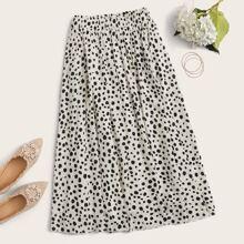 Dalmatian Print Midi Skirt