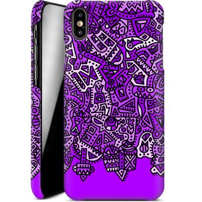 Apple iPhone XS Max Smartphone Huelle - Violet Black von Mattartiste