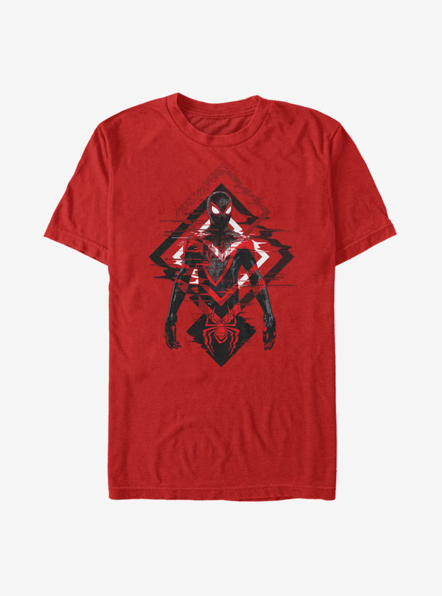 Marvel Spider-Man Miles Morales Triangle Waves T-Shirt