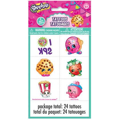 Shopkins 4 Tattoo Sheets/Favors Pour la fête d'anniversaire
