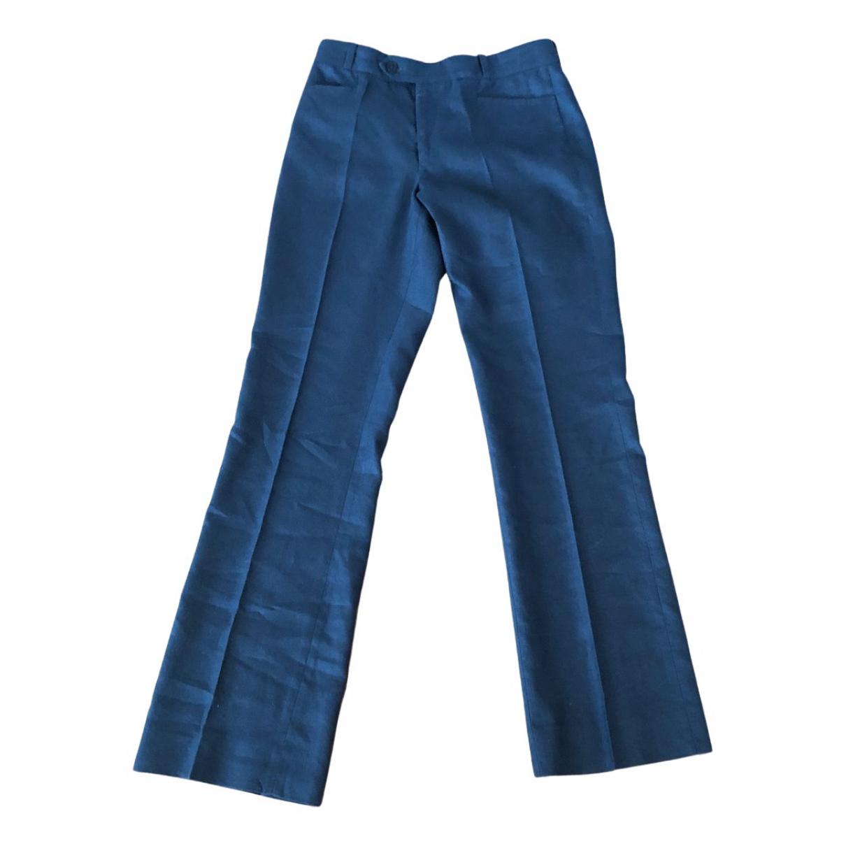 Joseph N Anthracite Linen Trousers for Women 34 FR