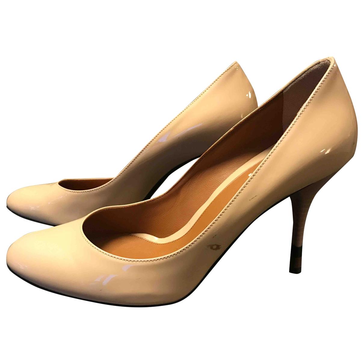 Fendi - Escarpins   pour femme en cuir verni - beige