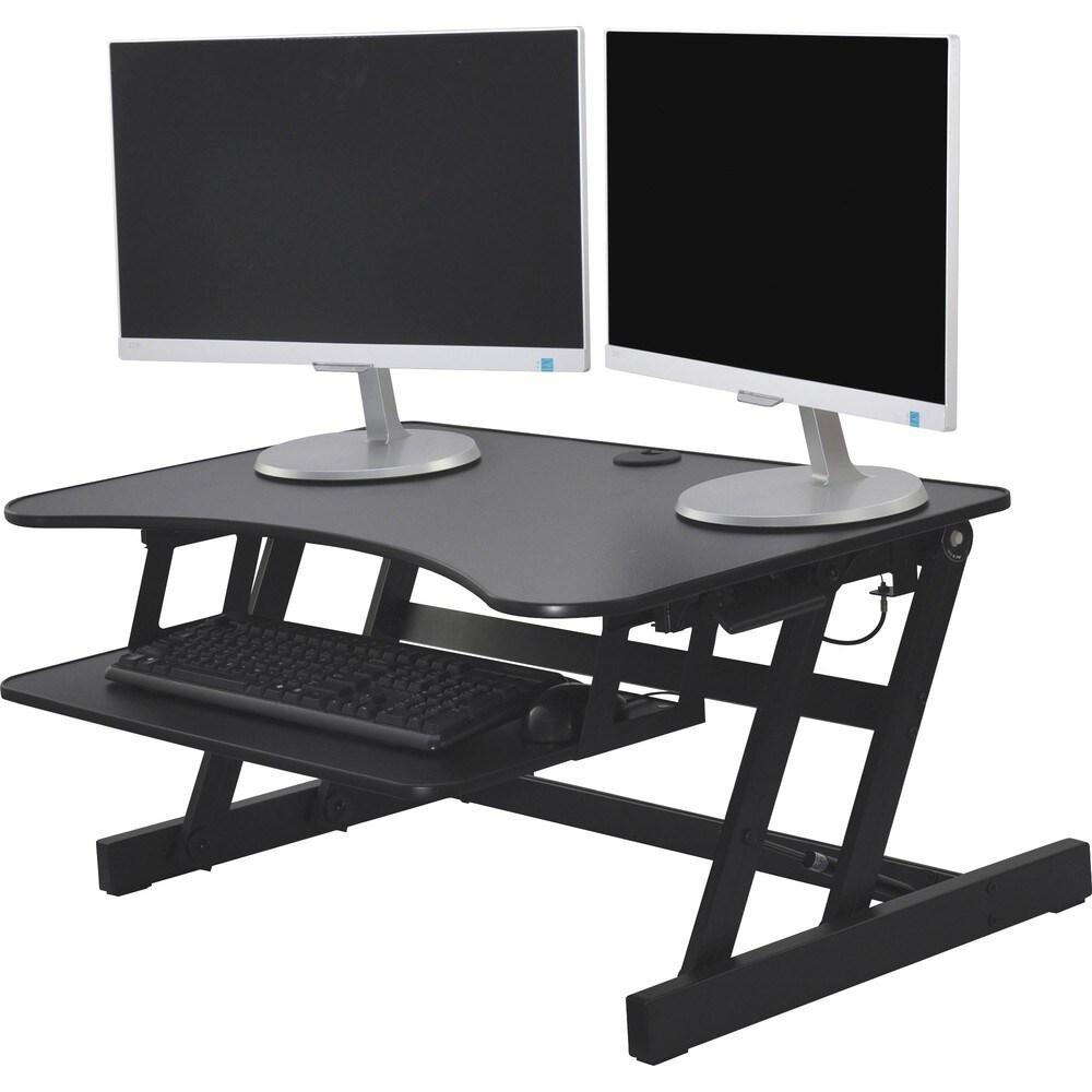 Lorell Adjustable Desk Riser Plus - 40 lb Load Capacity - 9