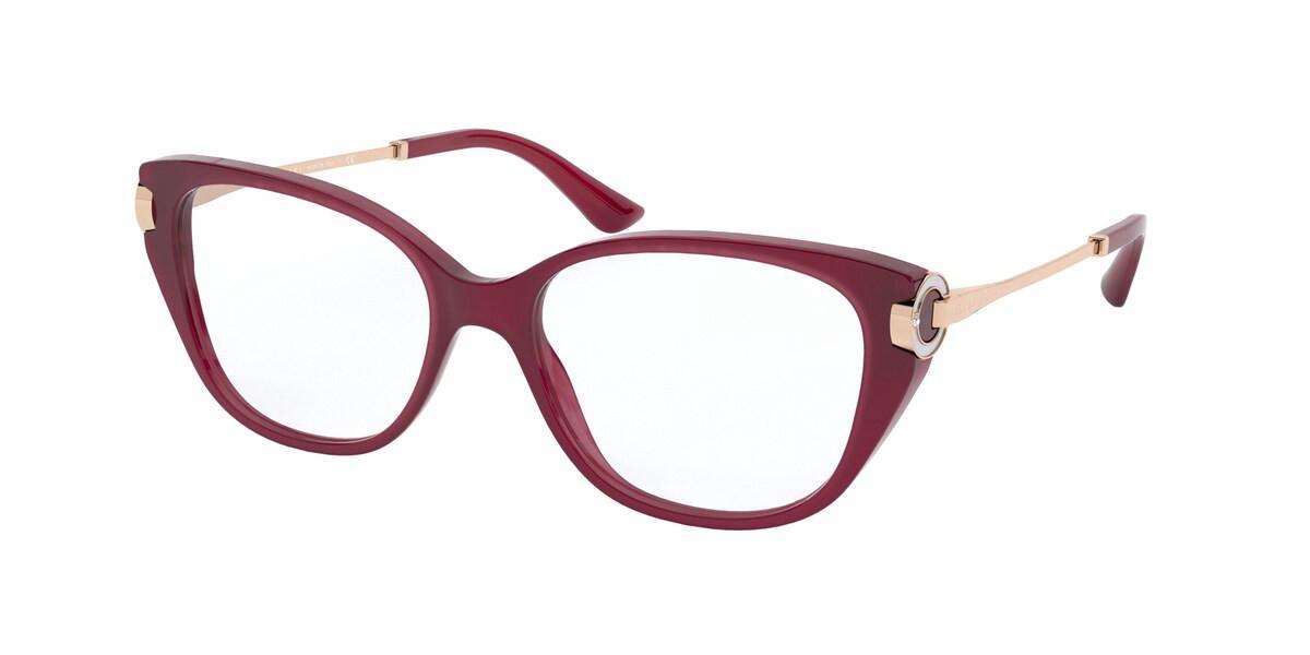 Bvlgari BV4189B 5333 Women's Glasses Red Size 54 - Free Lenses - HSA/FSA Insurance - Blue Light Block Available