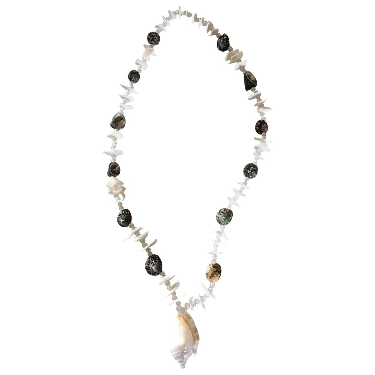 - Collier   pour femme en perles - blanc