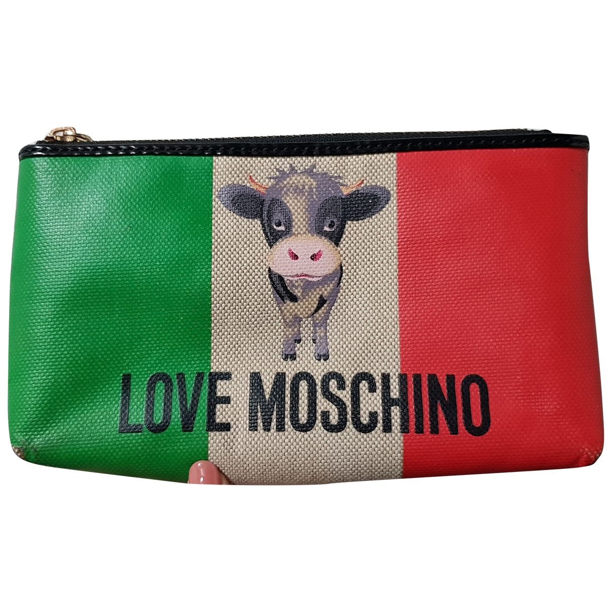 Moschino Love - Petite maroquinerie   pour femme en toile - multicolore
