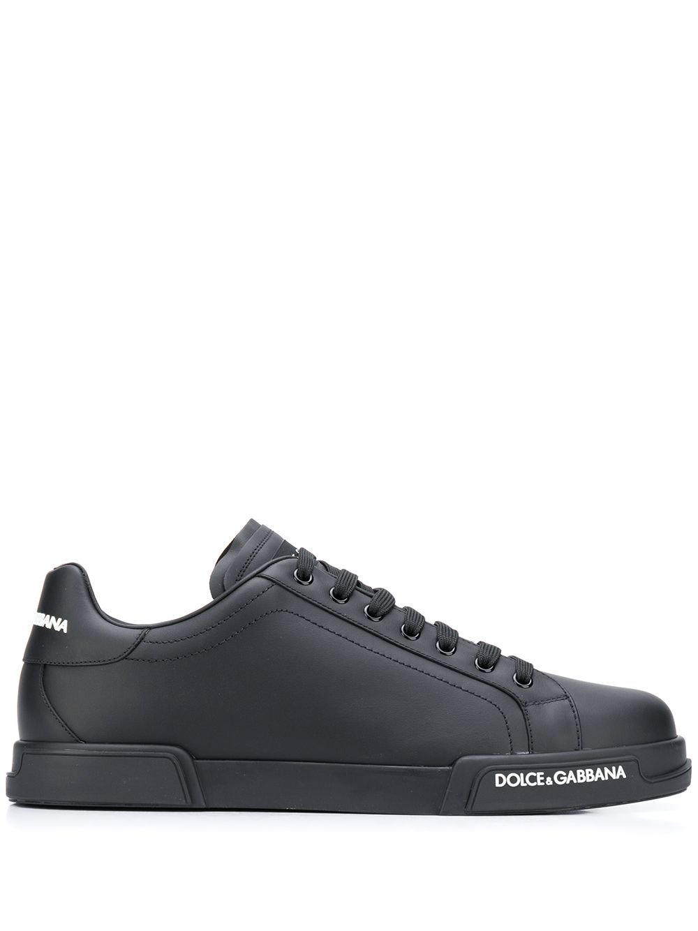 Leather Low-top Logo Sneakers