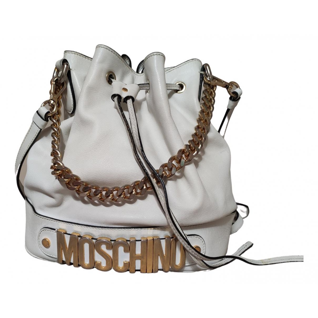 Moschino \N Handtasche in  Weiss Leder