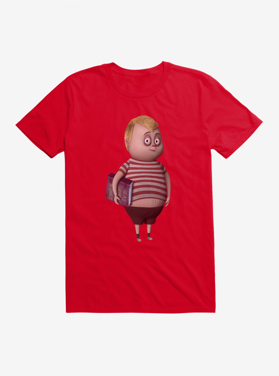 The Addams Family Pugsley Holding Book T-Shirt